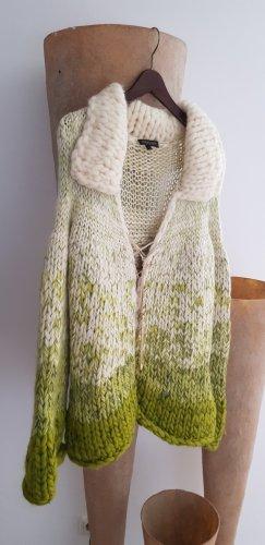 Roberto Cavalli Giacca di lana bianco sporco-verde oliva