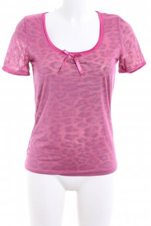 Roberto Cavalli T-Shirt pink-lila Leomuster Casual-Look