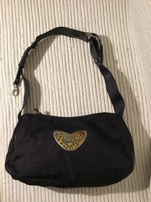 Roberto Cavalli Shoulder Bag black-silver-colored