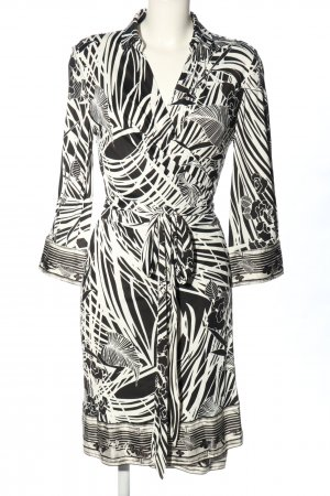 Roberto Cavalli Robe portefeuille noir-blanc style décontracté