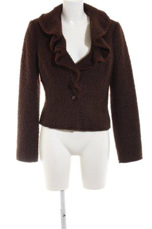 Roberto Cavalli Giacca di lana marrone stile casual