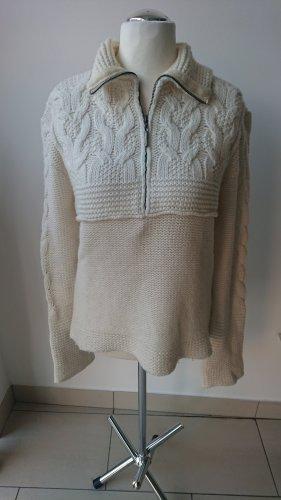Roberto Cavalli Maglione di lana bianco sporco Lana