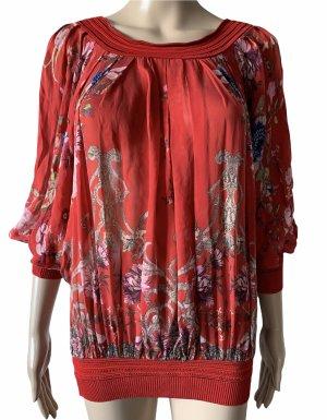 Roberto Cavalli Silk Blouse dark red