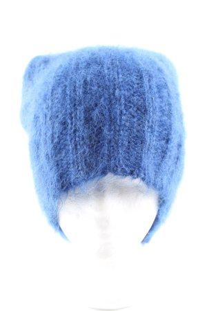 Roberto Collina Bonnet en crochet bleu style décontracté