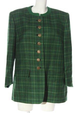 Roberto Quaglia Blazer de lana verde estampado a cuadros estilo clásico