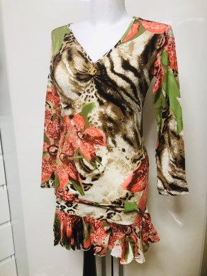 RobertoCavalli Damen Kleid Gold Schimmer M/L