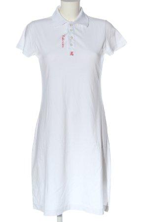 Robinson Robe Polo blanc lettrage brodé style décontracté