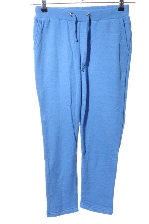 Stoffhose blau meliert Casual-Look