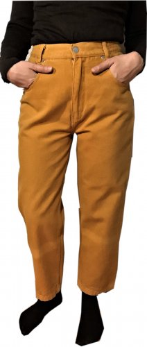 Line one Carrot Jeans gold orange cotton