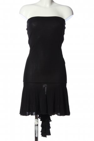 Rocco Barocco schulterfreies Kleid schwarz Party-Look