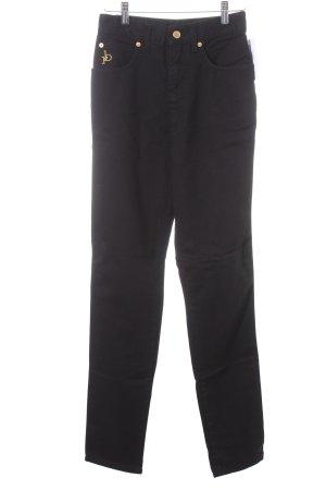Rocco Barocco Skinny Jeans schwarz klassischer Stil