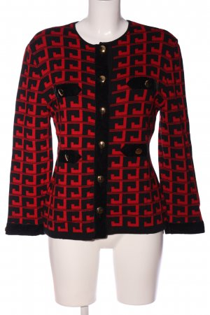 Rocco Barocco Knitted Blazer black-red allover print casual look