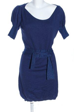 Rocco Barocco Strickkleid blau meliert Elegant