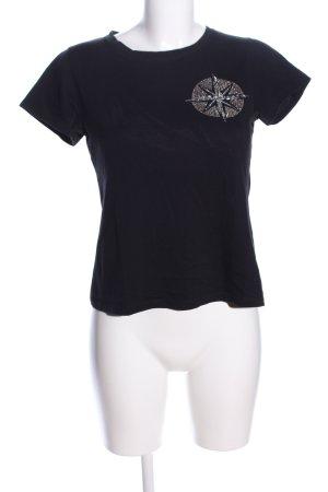 Rocco Barocco T-Shirt schwarz Casual-Look