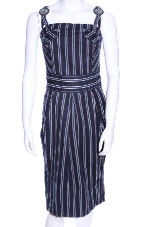 Rocco Barocco Trägerkleid blau-weiß Streifenmuster Casual-Look