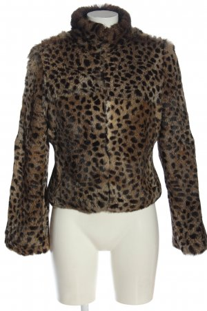 Rocco Barocco Reversible Jacket black-brown leopard pattern casual look