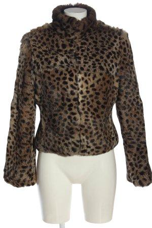 Rocco Barocco Omkeerbaar jack zwart-bruin luipaardprint casual uitstraling