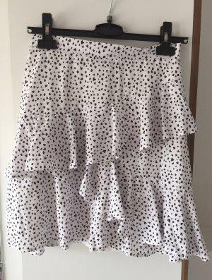 Asymmetry Skirt white-black