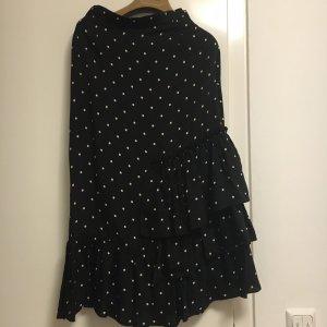 H&M Falda asimétrica negro-blanco