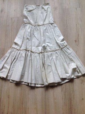 Plisowana spódnica jasnożółty-jasnobeżowy