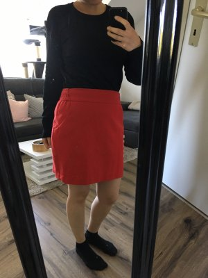 Esprit Gonna di lana rosso mattone