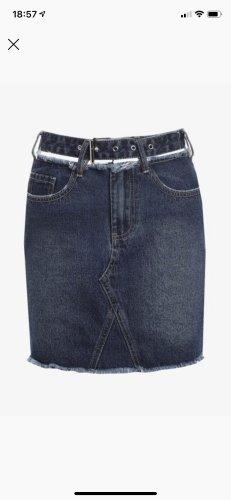 Missguided Denim Skirt blue