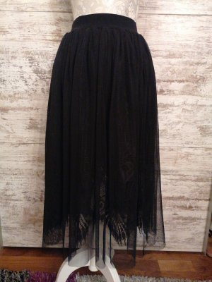 Amisu Tule rok zwart