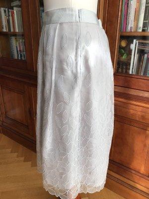 Windsor Jupe en soie gris clair-argenté soie