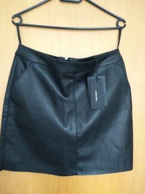 Vero Moda Faux Leather Skirt black