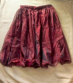 Vera Moda Tiulowa spódnica głęboka czerwień