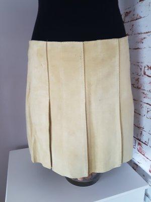 Stefanel Skórzana spódnica bladozielony-jasnozielony