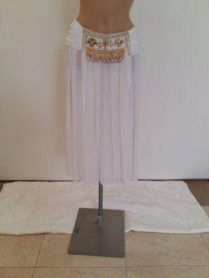 Jupe plissée blanc nylon