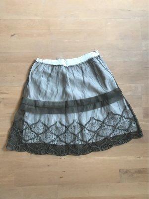 Noa Noa Tulle Skirt white-taupe
