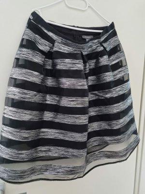 Primark Spódnica z falbanami czarny-srebrny