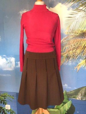 Mango Plisowana spódnica brązowo-czerwony-czarny