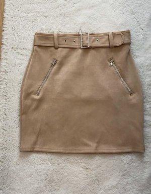 Tally Weijl Stretch Skirt beige mixture fibre