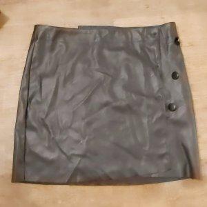 Colloseum Faux Leather Skirt black