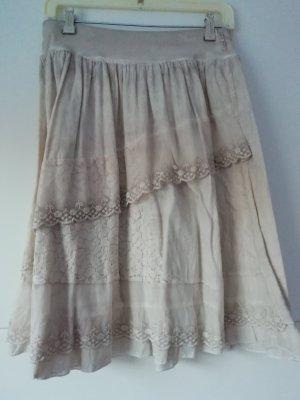 Laura Torelli Spódnica z falbanami jasnobeżowy