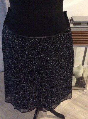 1.2.3. UN DEUX TROIS Paris Falda midi negro-blanco