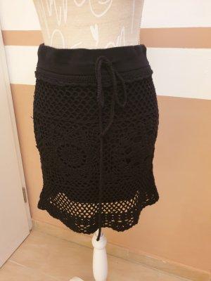 Promod Falda de punto negro