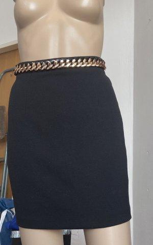 Missguided Rok met hoge taille zwart-goud
