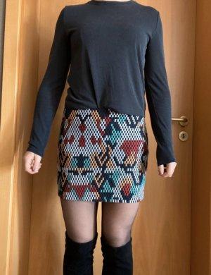 Mango High Waist Skirt multicolored
