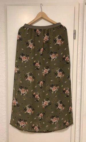 H&M Maxi Skirt pink-khaki