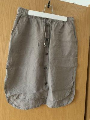 Yessica Falda de lino marrón grisáceo