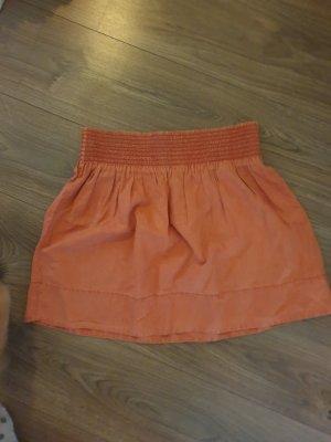 Zara Spódnica ze stretchu ciemny pomarańcz-brzoskwiniowy
