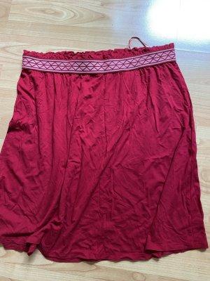 Street One Spódnica midi ciemnoczerwony-różowy Wiskoza