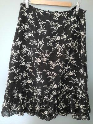 Zero Flounce Skirt black-white polyester