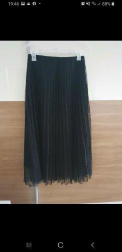 Zara Falda de encaje negro