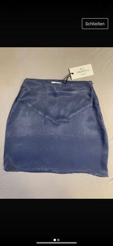 Iva Nikolina x Na-kd Falda de talle alto azul acero