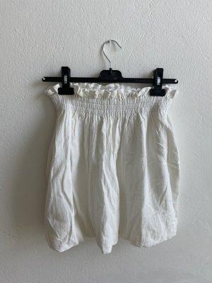 Zara Jupe ballon blanc cassé-blanc